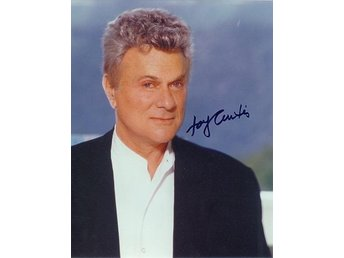 TONY CURTIS AMERICAN FILM ACTOR HAND SIGNED AUTOGRAF FOTO