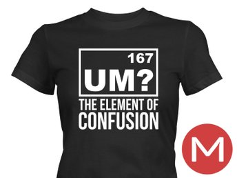 The Element Of Confusion T-Shirt Tröja Rolig Tshirt med tryck Svart DAM M