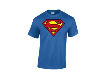 SUPERMAN LOGO BLUE MEN T-SHIRT DC COMICS - Large