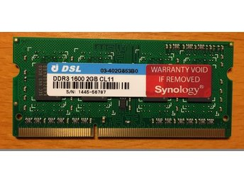 Synology 2GB RAM minne, SO-DIMM DDR3 1600 CL11