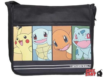Pokemon Pikachu and Friends Messenger Bag Svart och Blå