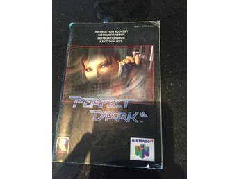 Perfect dark Nintendo 64 manual