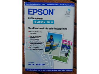 Epson Photo Quality Glossy Film A6 10-pack S041107 (NY INPLASTAD)