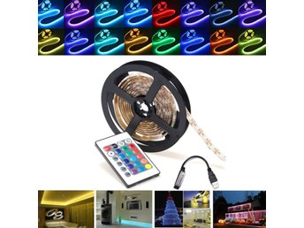0.5/1/2/3/4/5M RGB SMD5050 Waterproof LED Strip Light TV ...