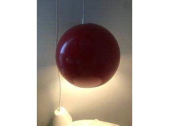 retro röd lampa ljusröramartur