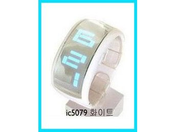 Vit Digital Klocka Armband COLD* LED mit Box!