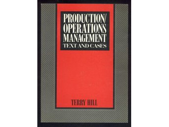 Production/Operations management. Text and cases.