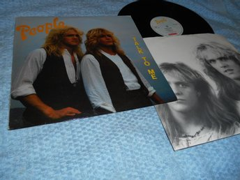 People - Talk To Me (LP) Norge 1985 EX/VG++