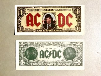 AC DC one dollar (2st) in rock we trust!