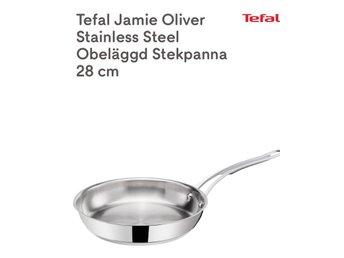 Tefal Jamie Oliver Stainless Steel Obeläggd Stekpanna 28 cm, NY! - Göteborg - Fick den i present.OBS! På första bilden ser du en svart markering, men den här är silvrig runtom utan den svarta markeringen.Som ny, använd 1 gång.Nypris 595kr.Köpt på köketsfavoriter.sehttps://www.koketsfavoriter.se/tefal-jamie-oliv - Göteborg