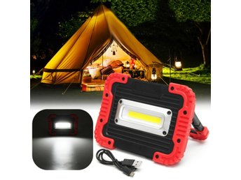 Portable 10W COB LED Work Light USB Rechargeable Outdoor ...
