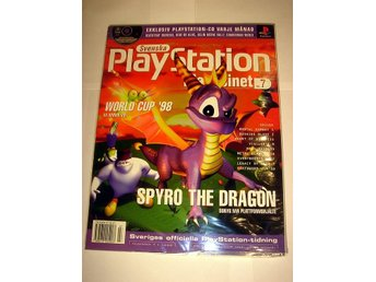 PLAYSTATION Mag  Nr7  HELT NY Med CD  7/1998  SPYRO  mm !!!