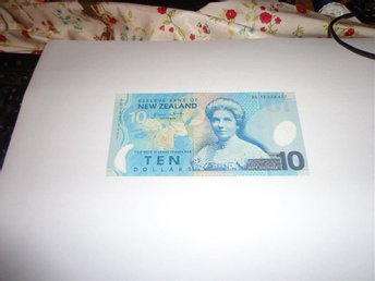 new zealand 10 dollar ny oanvänd polymer sedel