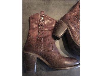 Boots Nylo läder western cowboy skinn känga stövlar stövletter 39 italienska - Halmstad - Boots Nylo läder western cowboy skinn känga stövlar stövletter 39 italienska - Halmstad