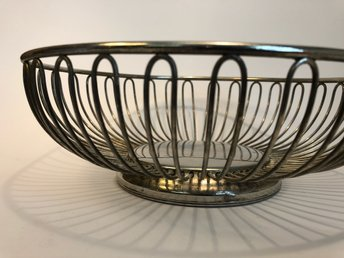 ALFRA ALESSI FRUKTSKÅL / BASKET WIRE FRUIT BOWL STAINLESS STEEL ITALY 60-TAL.