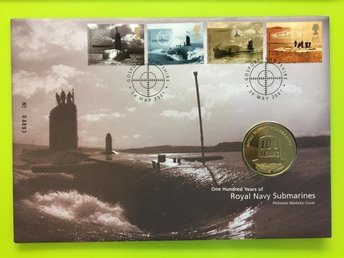 FDC - Myntbrev / 100 Years of Royal Navy Submarines / England