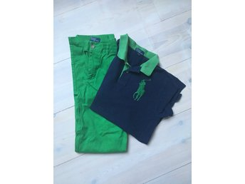 POLO Ralph Lauren pike +chinos strl 16 år( 170 cl)