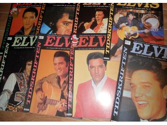8 st. Elvis Presley fan club of Sweden tidningar 1995-1996
