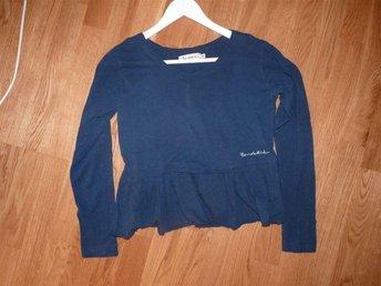 Blå, indigoblå långärmad tröja Bondelid stl. M 100% bomull - ängelholm - Blå, indigoblå långärmad tröja Bondelid stl. M 100% bomull - ängelholm