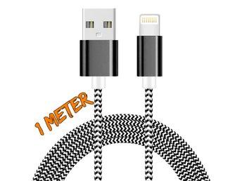 1M iOS 9.3 lightning kabel SVART/VIT - Nässjö - 1M iOS 9.3 lightning kabel SVART/VIT - Nässjö
