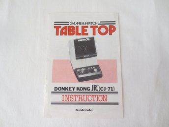Manual - Game & Watch - Table Top - Donkey Kong JR