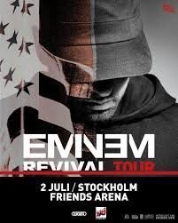 1 Golden Circlebiljett till Eminen - Revival Tour 2/7 på Friends Arena