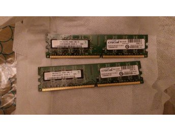 2 st 2GB 240 pin ddr2 dimm minne