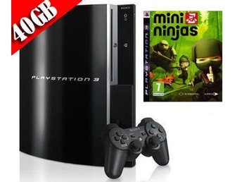 "- Playstation 3 ""BARN PAKET"" 40GB Inkl. 1 HK samt Mini Ninjas -"