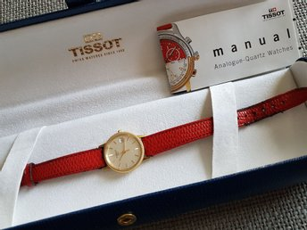 Tissot Goldrun Sapphire Lady 18K med Gold Collection etui