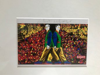 Gilbert and George Offsettryck Signerat