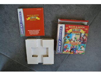 Kartong, manual och innerkartong till Game & Watch Gallery till Game Boy Advance