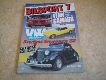 BILSPORT NR 7 1985    FORD MUSTANG -69 , FORD GALAXIE CAB -61 ,M.M