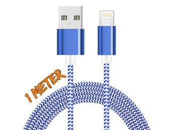 1M iOS 9.3 lightning kabel BLÅ/VIT - Nässjö - 1M iOS 9.3 lightning kabel BLÅ/VIT - Nässjö