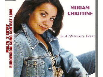 "Eurovision 1996 Malta Miriam Christine ""In a woman's heart"" CD-single"