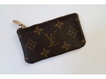LOUIS VUITTON BÖRS MONOGRAM BRUN CANVAS LÄDER VINTAGE