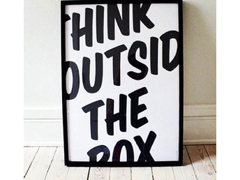 "Grafisk Poster ""Think outside the Box"" 45*60"