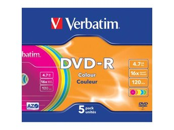 VERBATIM DVD-R 4,7GB 5-pack Slim Case