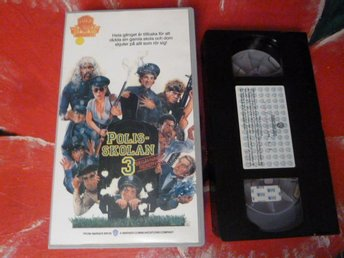 POLISSKOLAN 3, VHS, SVENSK TEXT, ACTION-KOMEDI, FILM, 80 MIN.