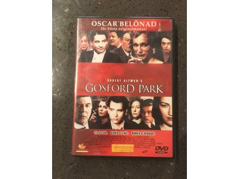 DVD Gosford Park av Robert Altman med bla Maggie Smith brittisk Julian Fellowes