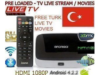 TurkiskLive tv smart Tv box  över 100 kanaler