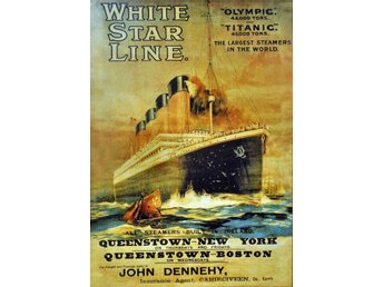 RMS TITANIC RMS OLYMPIC JUNGFRU RESA MARIN IRLÄNDSK POSTER A2
