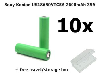 10x Sony Konion US18650VTC5A 2600mAh 35A NK078 - Eindhoven - 10x Sony Konion US18650VTC5A 2600mAh 35A NK078 - Eindhoven