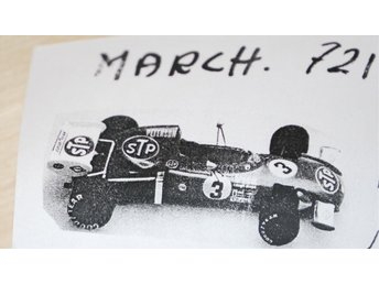 Ronnie Peterson F1 STP March 721 1972 skala 1:43 byggsats RARITET