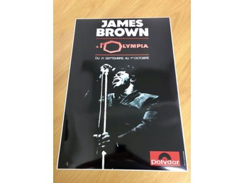 JAMES BROWN OLYMPIA PARIS 1967 GLOSSY PHOTO POSTER