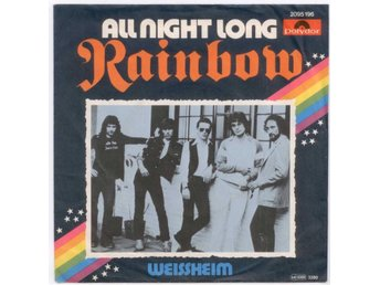 "RAINBOW - All Night Long  7"" Singel  Tyskland  Deep Purple"