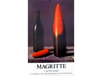 MAGRITTE MOROT The CARROT AFFISCH L´AUTRE MUSEE