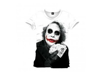 Batman T-shirt Joker Poker L