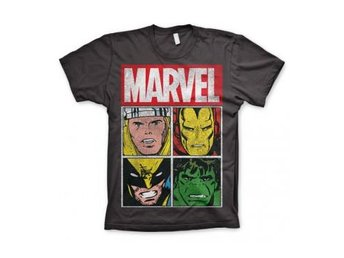 Marvel T-shirt Distressed Characters L