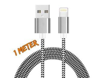 1M iOS 9.3 lightning kabel SILVER/SVART/VIT - Nässjö - 1M iOS 9.3 lightning kabel SILVER/SVART/VIT - Nässjö