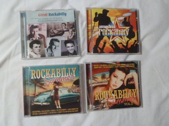 4 st /varav 1 st DUBBEL CD MED ROCKABILLY -GREAT ROCKABILLY-ROCKABILLY SUMMER ..